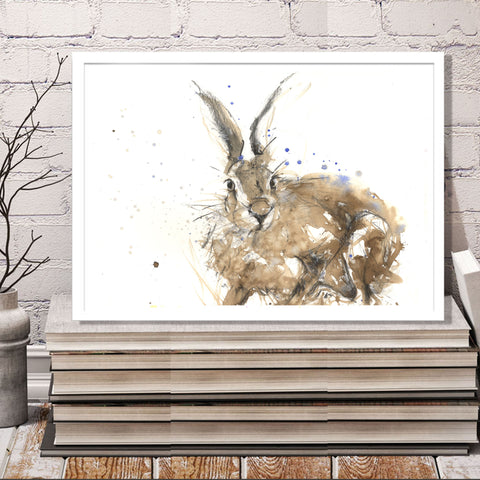 "Original hare watercolour painting ""Noah"""