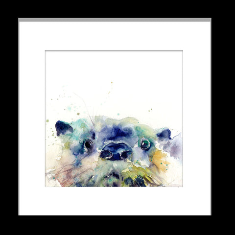 signed LIMITED EDITION PRINT of  original OTTER  painting   - Jen Buckley Art limited edition animal art prints