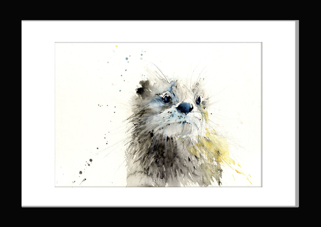 jen buckley otter watercolour print