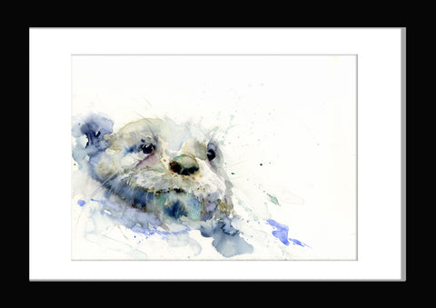 "Signed LIMITED EDITION PRINT of  original OTTER  painting ""Henry"""