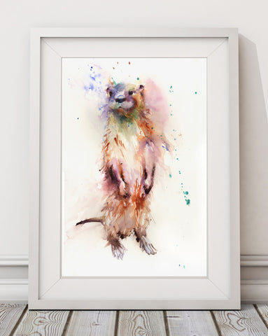 "Signed LIMITED EDITION PRINT of  original OTTER  painting ""GARY"""