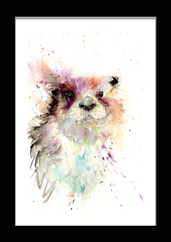 River otter by jen buckley watercolour print