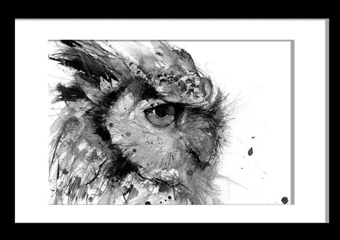 JEN BUCKLEY signed LIMITED EDITON PRINT 'Horned Owl' - Jen Buckley Art limited edition animal art prints
