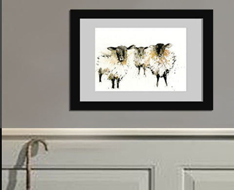 signed LIMITED EDITON PRINT of my original blackface SHEEP