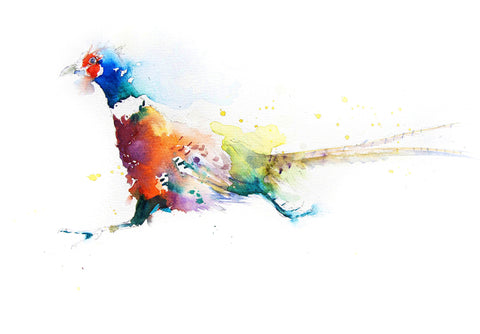JEN BUCKLEY ART  signed PRINT of my original PHEASANT watercolour - Jen Buckley Art limited edition animal art prints