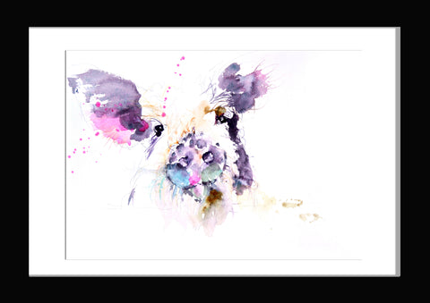 JEN BUCKLEY   signed PRINT of original  pig watercolour