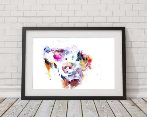 JEN BUCKLEY   signed PRINT of my original Happy Pig watercolour