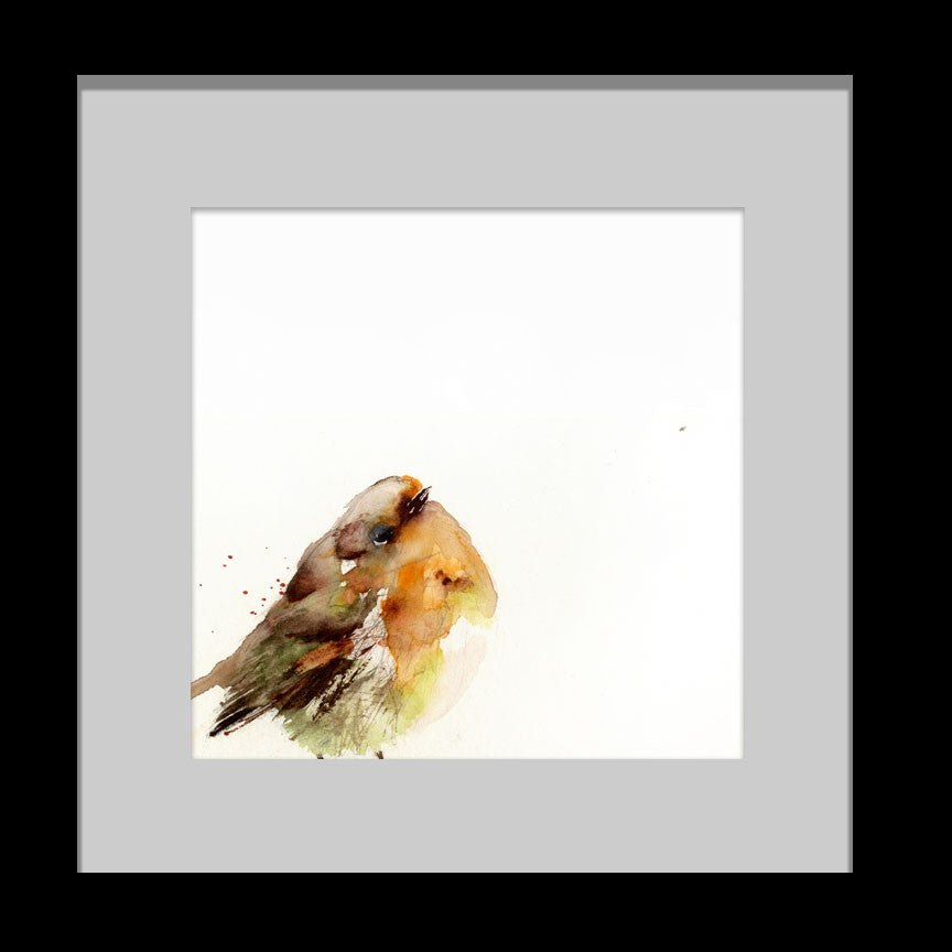 Red robin-  limited edition print - Jen Buckley Art limited edition animal art prints