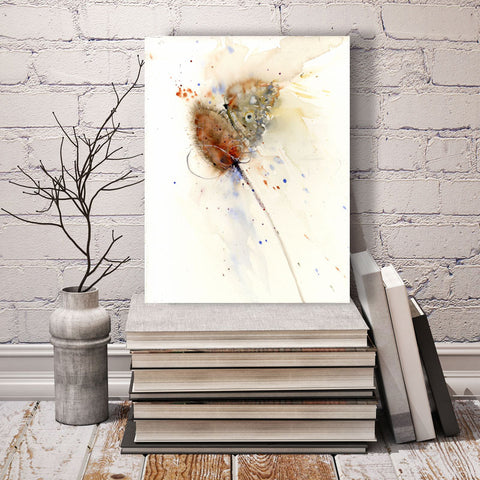 butterfly on a teasle print by jen buckley