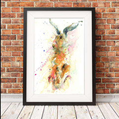 "Limited edition hare print ""Samuel"""