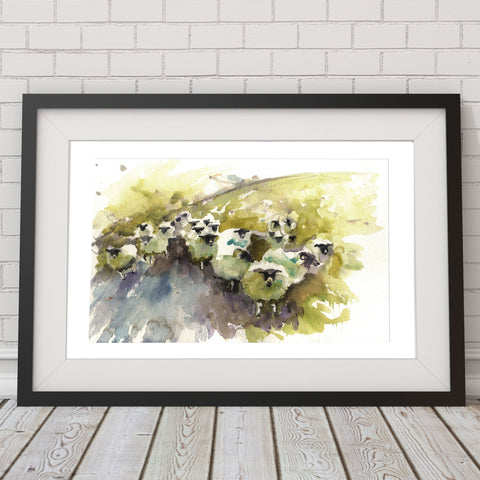 JEN BUCKLEY signed LIMITED EDITON PRINT of my original Swaledale SHEEP