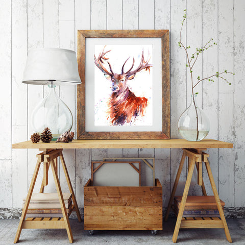LIMITED EDITION PRINT of original Highland stag painting