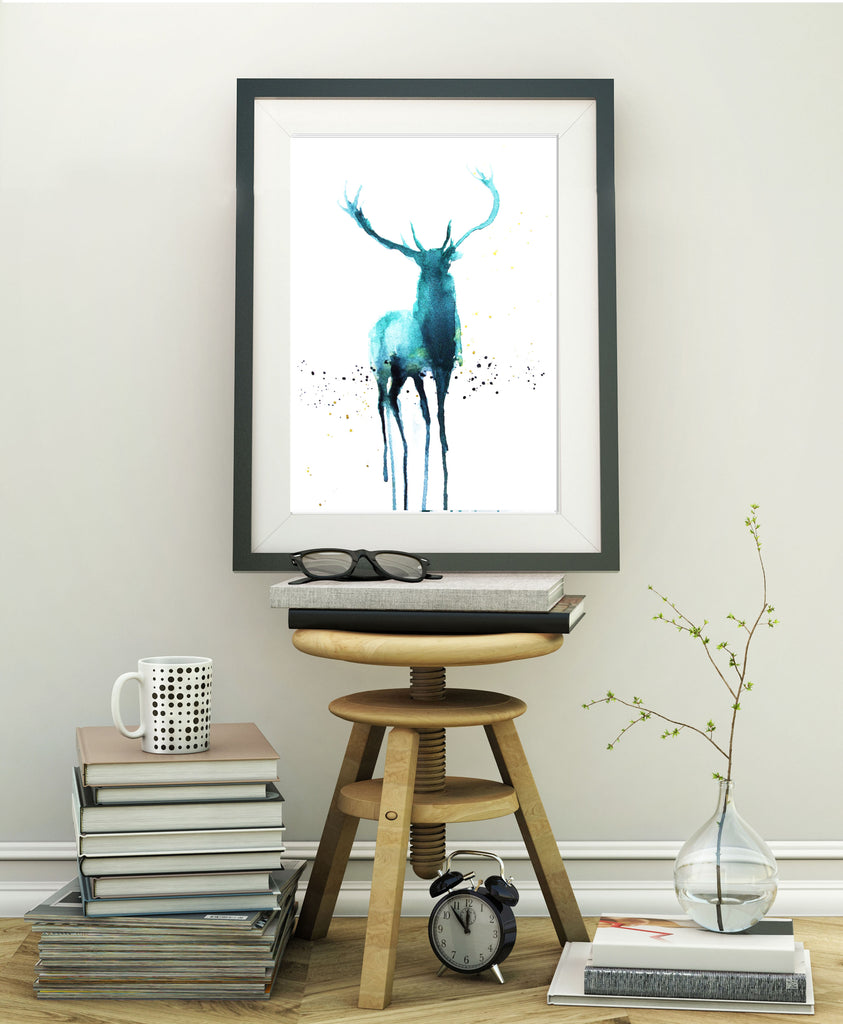 "Signed print ""stag"""