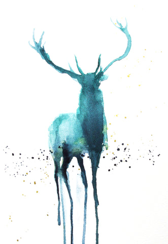 JEN BUCKLEY ART  signed PRINT of my original watercolour painting   - Jen Buckley Art limited edition animal art prints