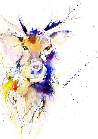 JEN BUCKLEY ART  signed PRINT of my original STAG watercolour - Jen Buckley Art limited edition animal art prints