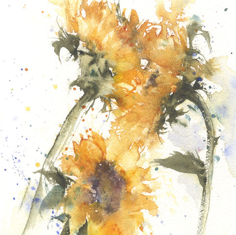 "Original watercolour painting ""Sunflowers"""