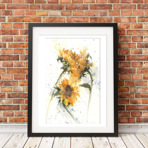 Sunflowers by Jen Buckley original watercolour painting