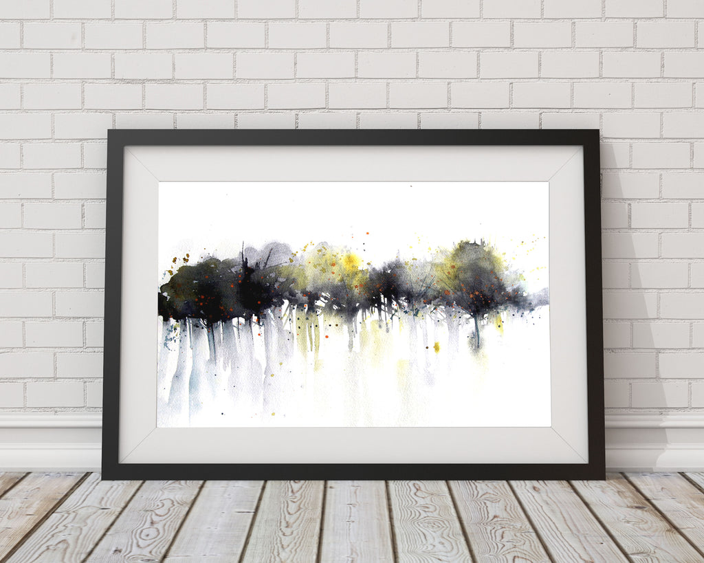 "JEN BUCKLEY ART  signed PRINT ""Twilight trees"""