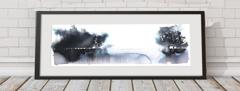 "JEN BUCKLEY  signed PRINT ""Winter trees"""