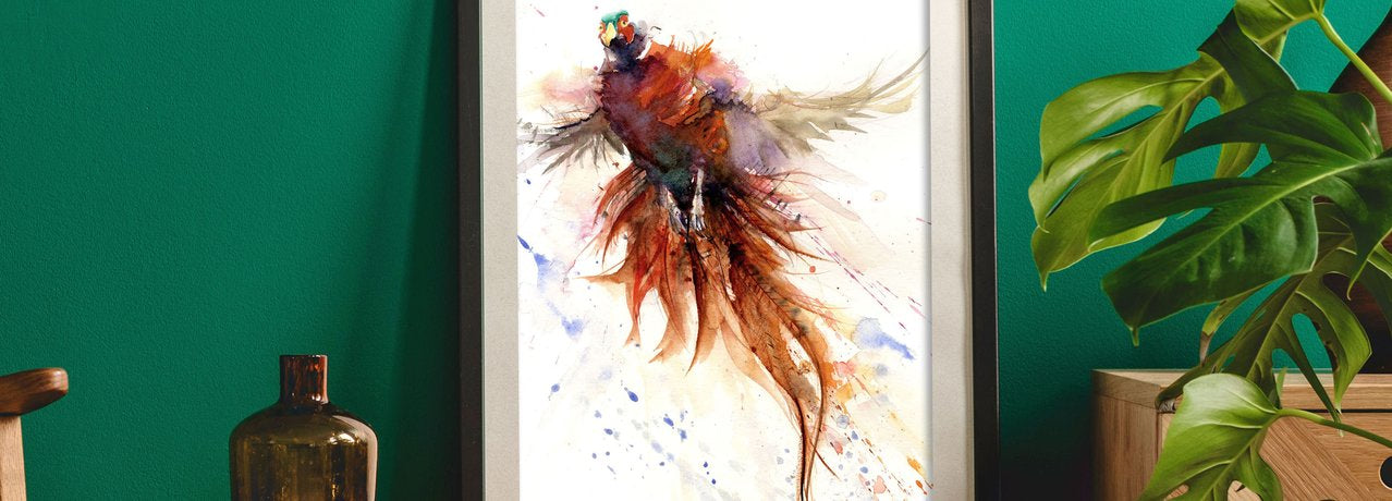 fox  watercolour art print