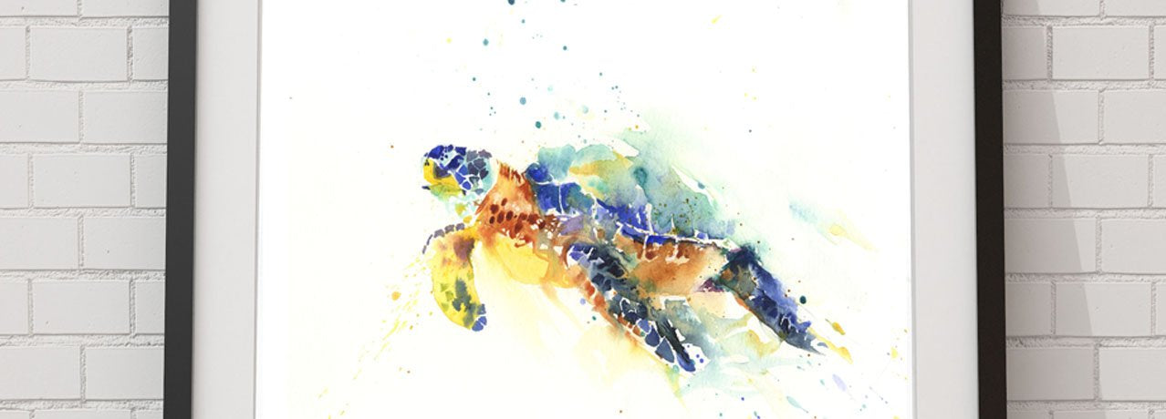 sea turtle watercolour art print