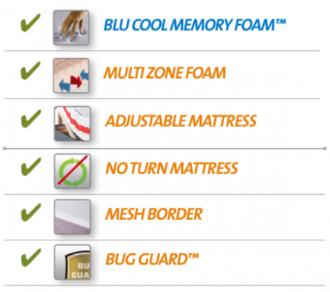 Blue cool sports therapy mattress