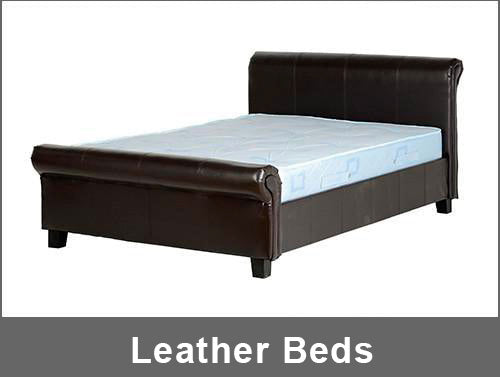 leather beds collection