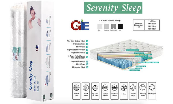 Roll Up Serenity Mattress