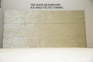 The Band Headboard | Ice Gold Velvet Fabric