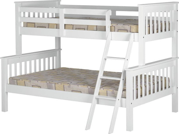 Triple Bunk Bed White