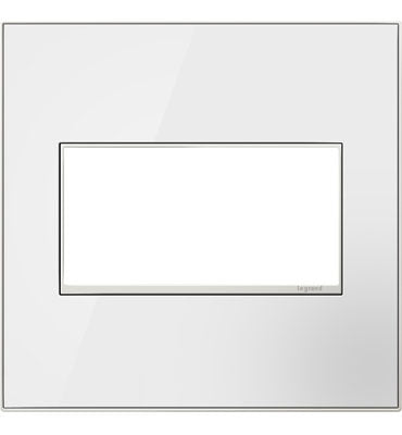 Mirror White, 2-Gang Wall Plate