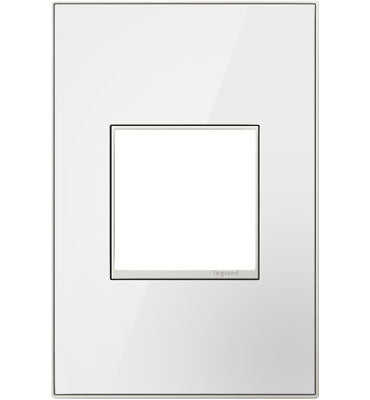 Mirror White, 1-Gang Wall Plate