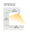 Ultra-low-profile LED under-cabinet fixture