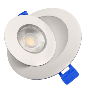 "4"" LED Gimbal Recessed Fixture (Round White)"