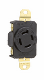 20 Amp NEMA Connector L1520 - Black Back, White Front Body