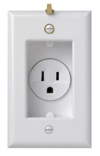 S3713W Clock Receptacle