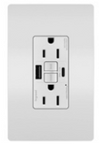 NEW Tamper-Resisant Self-Test GFCI USB Type-AC Outlet, White