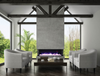 Fireplace - 3 Sided Indoor / Outdoor Electric Fireplace