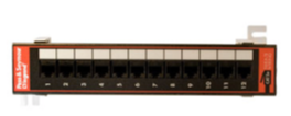 Cat 5e Wall-Mount Patch Panel with 89D Bracket