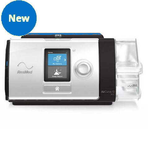 ResMed - AirCurve 10 VPAP ST-A with HumidAir Humidifier and ClimateLineAir Heated Tube