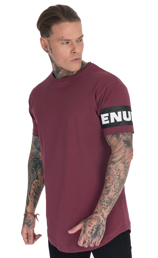 LUXE T-SHIRT (OXBLOOD)