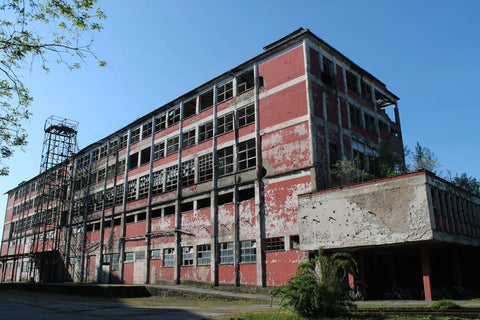 Borovo bombed-out factory, Vukovar, Croatia
