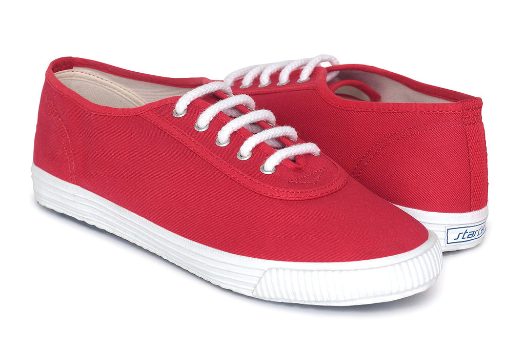 Startas Basic Red Lowtop- Handmade Red Canvas Lowtop Sneakers