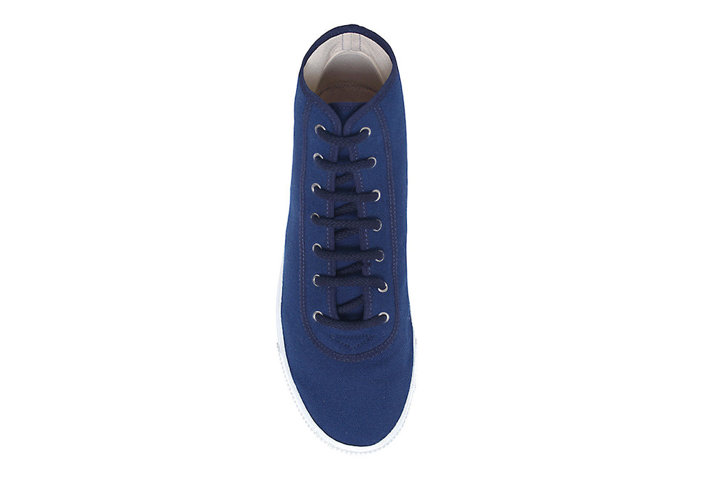 Startas Blue Hightop- Handmade Blue Canvas Hightop Sneakers