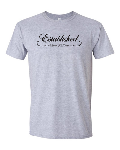 "NBF - ""Established Since 10:15 am"" T-Shirt - Sport Grey"