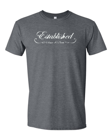 "NBF - ""Established Since 10:15 am"" T-Shirt - Dark Heather"