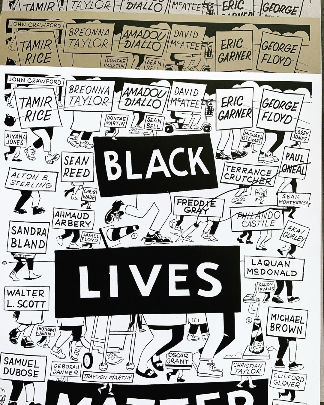BLM posters designed by Steve ESPO Powers
