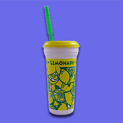 Berk Lemonade Cups w/ Lid & Straw - Diversified Distribution Company
