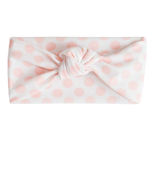 Tied & Knotted Headband - Pink Polka Dot