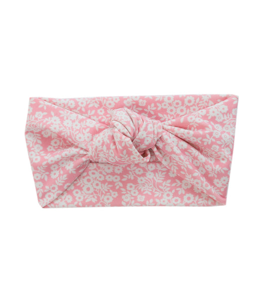 Tied & Knotted Headband - Pink Floral